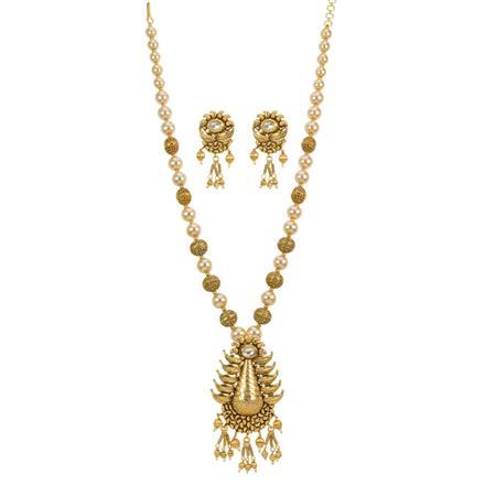 12766 Antique Mala Pendant Set with gold plating
