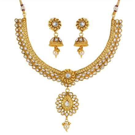 12767 Antique Classic Necklace with gold plating
