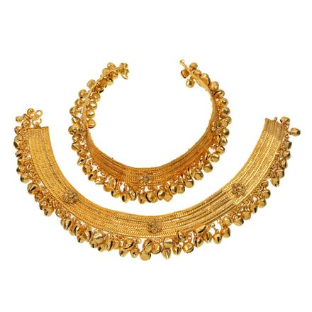12771 Antique Ghungru Payal with gold plating