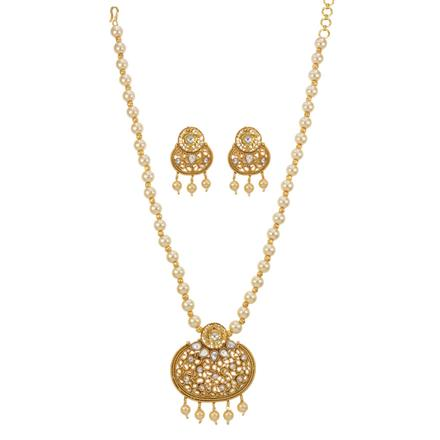 12778 Antique Mala Pendant Set with gold plating