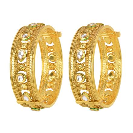 12780 Antique Openable Bangles with gold plating
