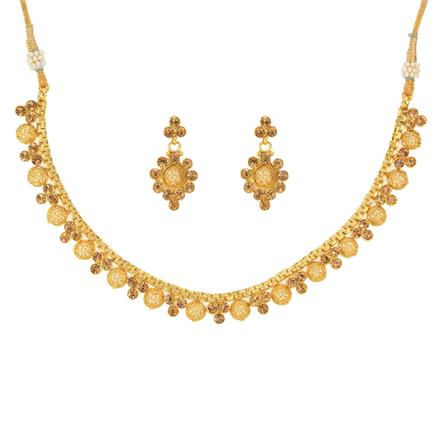 12782 Antique Delicate Necklace with gold plating