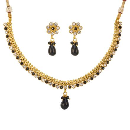 12783 Antique Delicate Necklace with gold plating