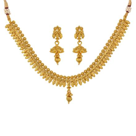 12785 Antique Delicate Necklace with gold plating