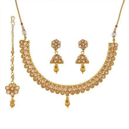 12787 Antique Classic Necklace with gold plating