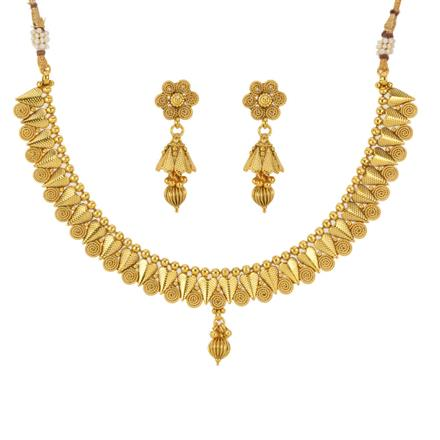 12788 Antique Delicate Necklace with gold plating
