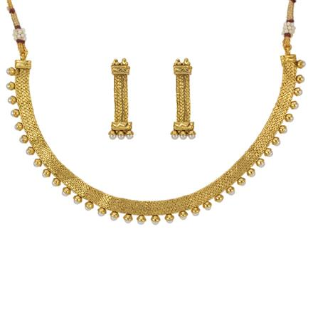 12790 Antique Delicate Necklace with gold plating