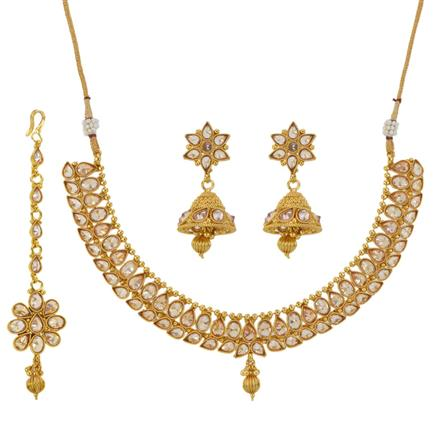 12791 Antique Classic Necklace with gold plating
