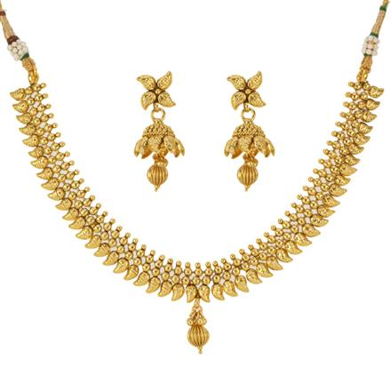 12792 Antique Delicate Necklace with gold plating