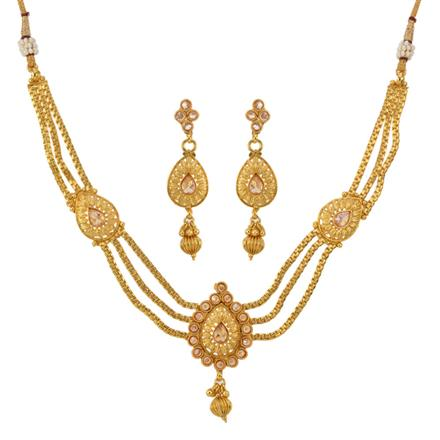 12793 Antique Classic Necklace with gold plating