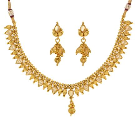 12794 Antique Delicate Necklace with gold plating