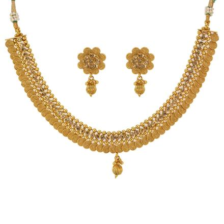 12795 Antique Classic Necklace with gold plating