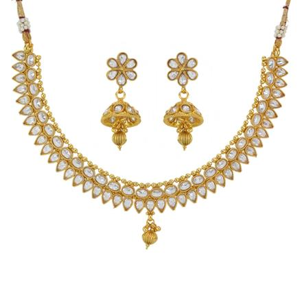 12796 Antique Classic Necklace with gold plating