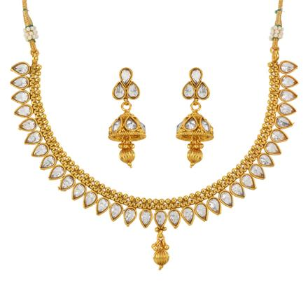 12798 Antique Classic Necklace with gold plating