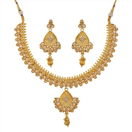 12799 Antique Classic Necklace with gold plating