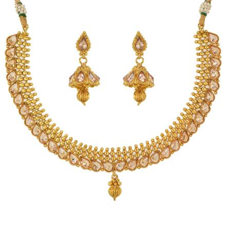 12800 Antique Classic Necklace with gold plating