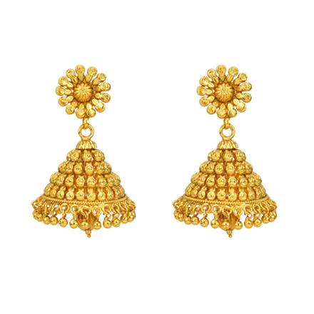 12802 Antique Jhumki with gold plating