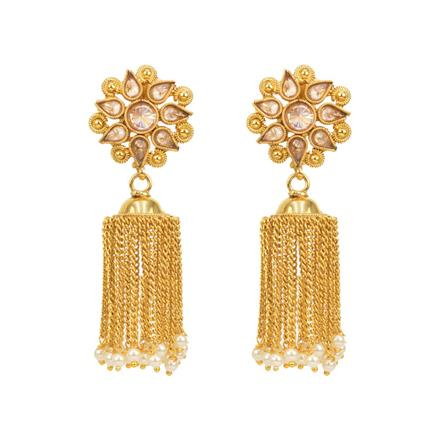 12803 Antique Jhumki with gold plating