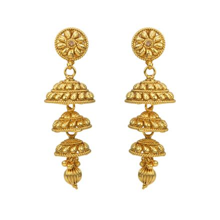 12804 Antique Jhumki with gold plating
