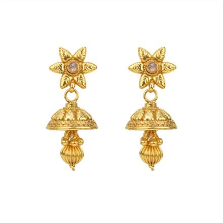 12805 Antique Delicate Earring with gold plating