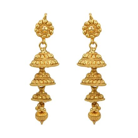 12806 Antique Jhumki with gold plating