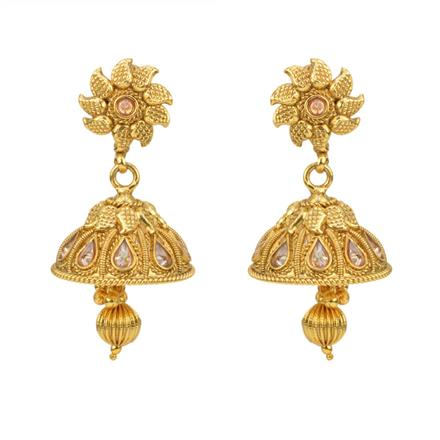 12807 Antique Jhumki with gold plating