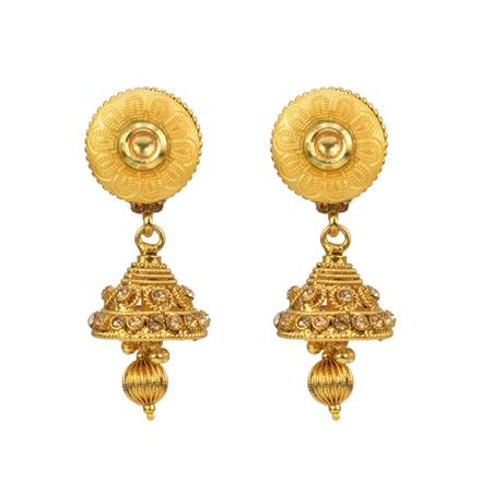 12810 Antique Jhumki with gold plating