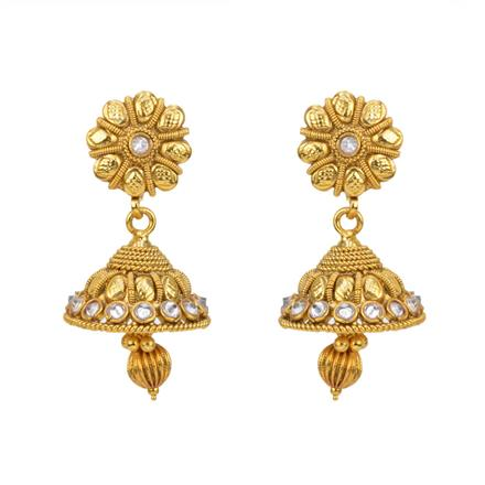 12811 Antique Jhumki with gold plating