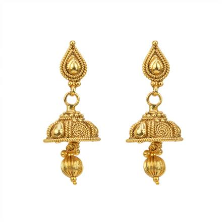 12812 Antique Delicate Earring with gold plating