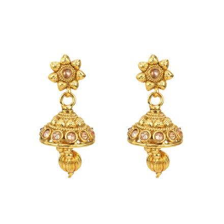 12813 Antique Jhumki with gold plating
