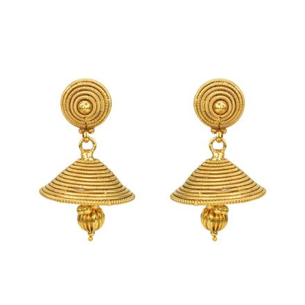 12814 Antique Jhumki with gold plating