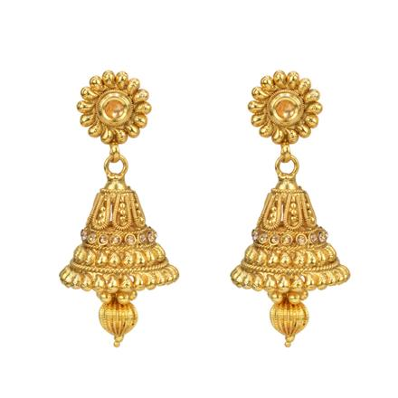12815 Antique Jhumki with gold plating