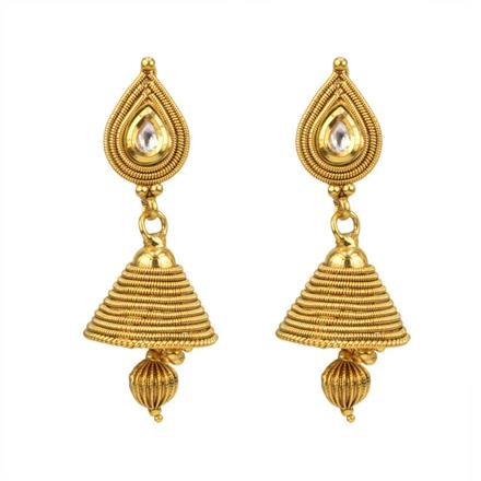 12816 Antique Delicate Earring with gold plating