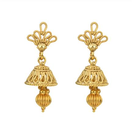 12817 Antique Delicate Earring with gold plating