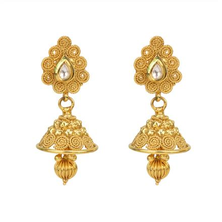 12819 Antique Jhumki with gold plating