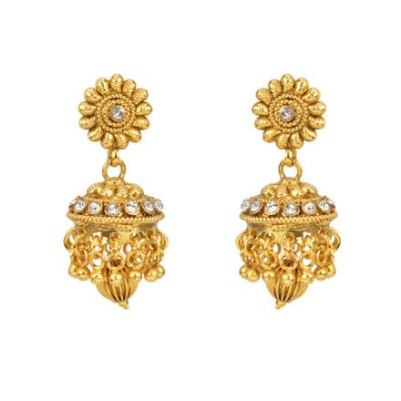 12820 Antique Jhumki with gold plating