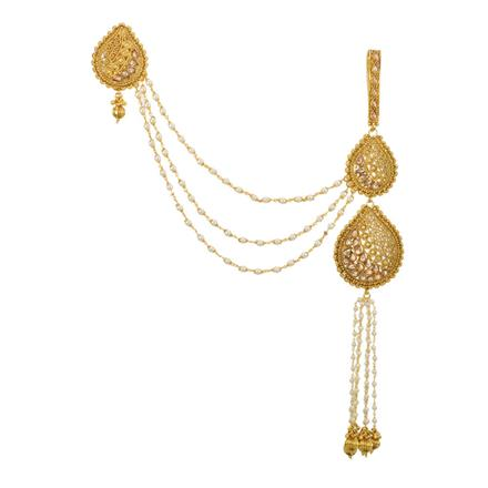 12828 Antique Double Jhuda with gold plating
