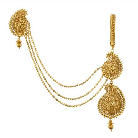 12829 Antique Double Jhuda with gold plating