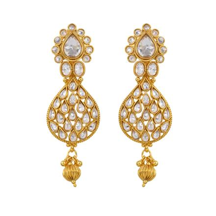 12840 Antique Classic Earring with gold plating