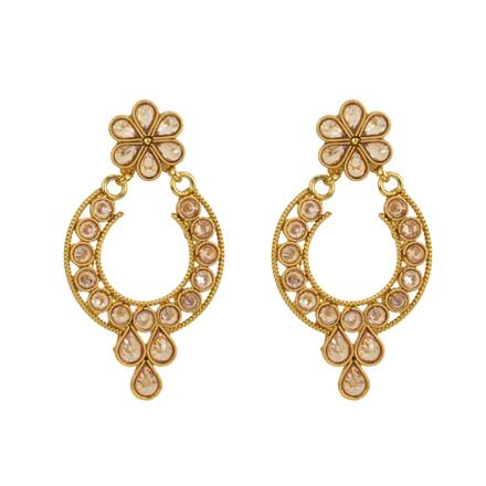 12842 Antique Classic Earring with gold plating