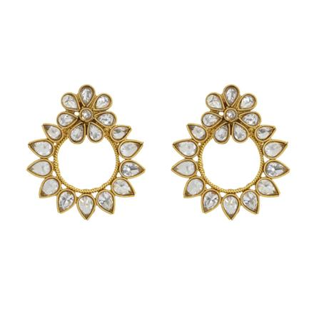 12843 Antique Classic Earring with gold plating