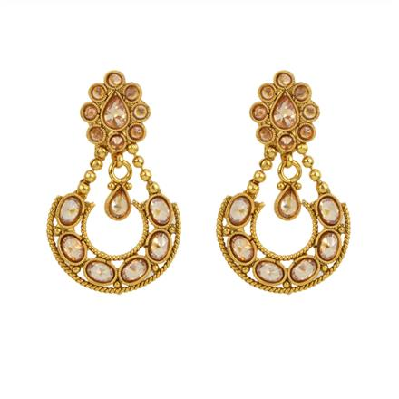 12844 Antique Classic Earring with gold plating