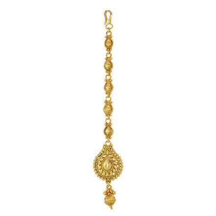 12845 Antique Plain Gold Tikka