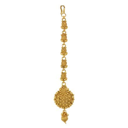 12846 Antique Plain Gold Tikka