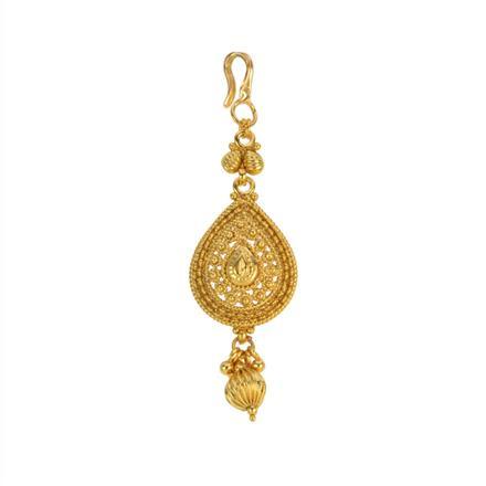 12848 Antique Plain Gold Tikka