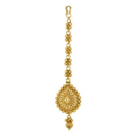 12850 Antique Plain Gold Tikka