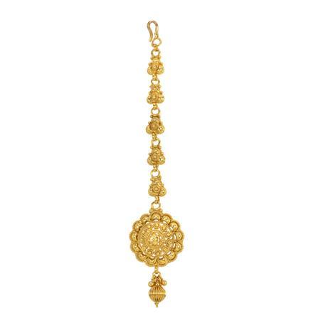 12851 Antique Plain Gold Tikka