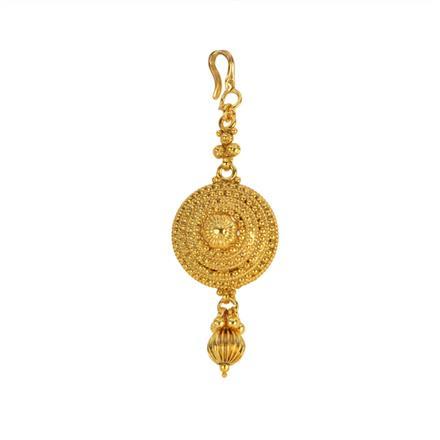 12852 Antique Plain Gold Tikka