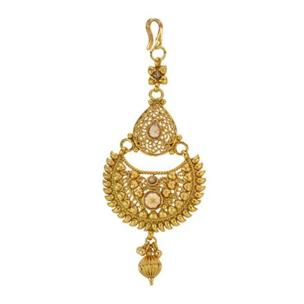 12865 Antique Chand Tikka with gold plating