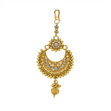 12866 Antique Chand Tikka with gold plating